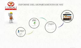 INFORME DEL DEPARTAMENTO DE SST