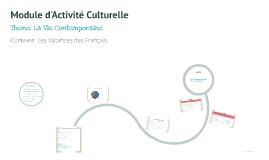 Copy of Module d'Activité Culturelle
