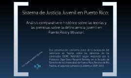 Sistema de Justicia Juvenil en Puerto Rico.