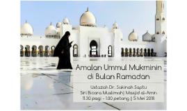 Amalan Ummul Mukminin di Bulan Ramadan