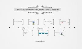 linea de tiempo EXPO-sanjose de ciencias naturales