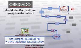 UM NOME NU FALSO NO PB: A DENOTAÇÃO DEFINIDA DE 'CASA'