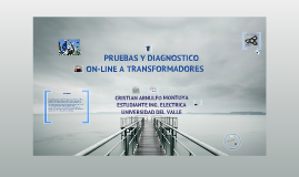 PRUEBAS Y DIAGNOSTICOS ON-LINE A TRANSFORMADORES