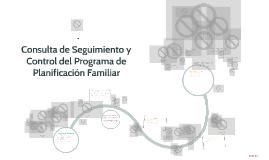 Consulta de Seguimiento y Control del Programa de Planificac