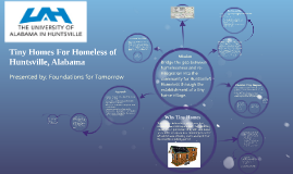 Tiny Homes For Homeless of Huntsville, Alabama