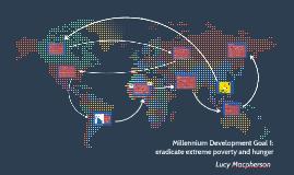 Millenium Development Goal: eradicate extreme poverty and hu