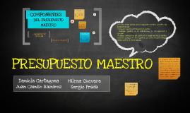 Copy of Copy of PRESUPUESTO MAESTRO