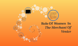 Copy of Role Of  Women  In The Merchant Of Venice