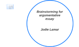 Copy of Brainstorming for argumentative essay