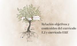 Relación objetivos y contenidos del currículo E.I y currículo ERE