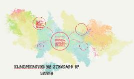 Klasipikasyon ng standard of living