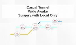 Wide awake  carpal tunnel
