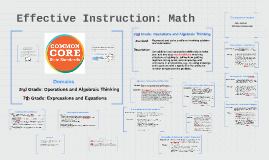 Copy of Effective Instruction: Math
