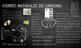 Fuentes naturales del carbono