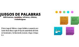 Copy of JUEGOS DE PALABRAS
