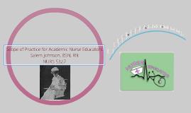 Scope of Practice for Academic Nurse Educators
