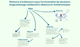 Elements d'architecture pour l'apprentissage collaboratif en maths