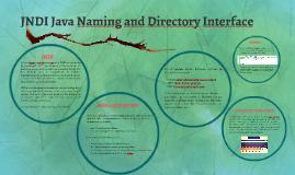 JNDI Java Naming and Directory Interface