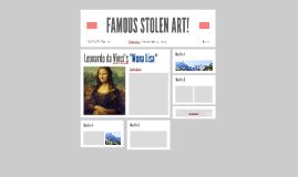 FAMOUS STOLEN ART!