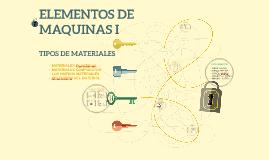 ELEMENTOS DE MAQUINAS I