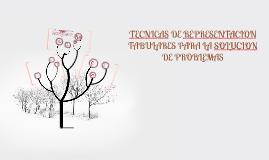 Copy of TECNICAS DE REPRESENTACION TABULARES PARA LA SOLUCION DE PRO