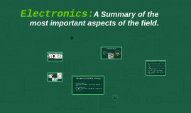 Electronics: A Summary of the most important aspects of the