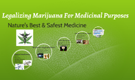 Copy of Copy of Legalizing Marijuana For Medicinal Purposes
