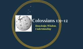 Colossians 1:9-12