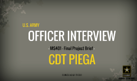 Army Officer Interview