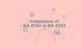 Copy of Comparison of RA 5734 and RA 9292 :)