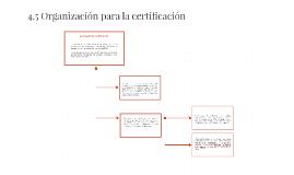 4.5 Organización para la certificación