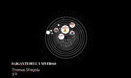 I Giganti dell'Universo