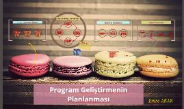 Program Geliştirmenin Planlanması