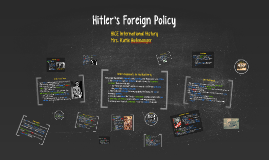 Copy of Hitler's Foreign Policy