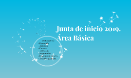 Junta de inicio 2019. Área Básica