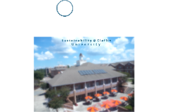 Sustainability @ Claflin University