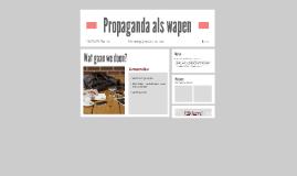 Propaganda als wapen