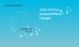 A,B,C,D,E,F,G, Keyboard Must Change!