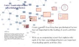 Unit 13- Leadership in sport P2/M2: