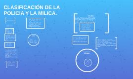 CLASIFICACIÓN DE LA POLICIA Y LA MILICA.