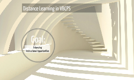 Distance Learning in VBCPS - Offering Opportunities