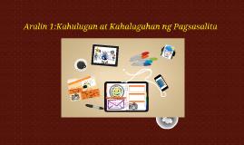 Copy of Aralin 1:Kahulugan at Kahalagahan ng Pagsasalita