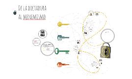 Copy of De la dictadura al menemismo