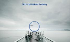 Fall 2012 Training