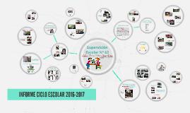 CICLO ESCOLAR 2016-2017