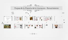 Etapas de la Historia de la Literatura - Renacimiento