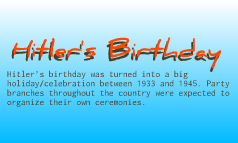 Hitler's Birthday