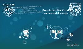 Bases de esterilización del instrumentalde cirugía