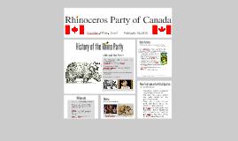Rhinoceros Party of Cananda