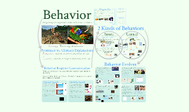 AP Bio- Ecology 1: Behavior